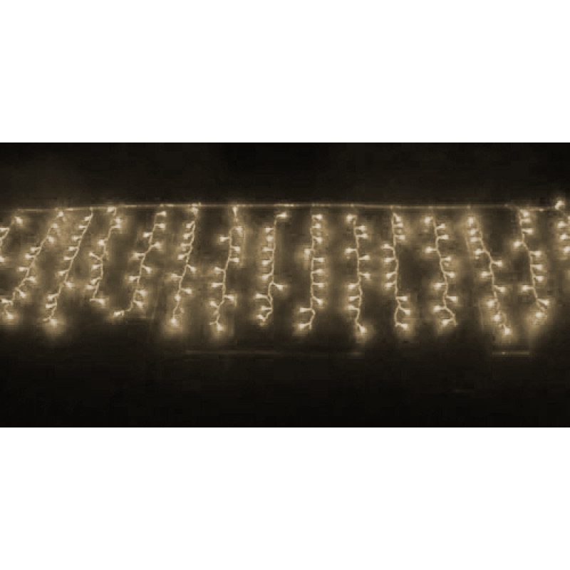 6214e4db2 Cascata com 400 LEDS Branco Quente Fixa 220V - Valepinho