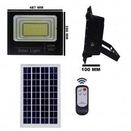 REFLETOR HOLOFOTE LED SOLAR SMD 400W 6500K(BRANCO FRIO)C/ PLACA
