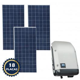 KIT PLACA SOLAR GERADOR DE ENERGIA FOTOVOLTAICO DE 7,20 KWP (839KWH a 1120KWH)