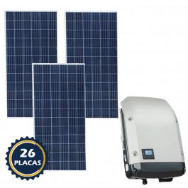 KIT PLACA SOLAR GERADOR DE ENERGIA FOTOVOLTAICO DE 10,40 KWP (1050KWH a 1400KWH)