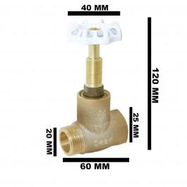 REGISTRO DE PRESSAO BRUTO DECA    1/2'' (DN 15mm) COM VOLANTE BRANCO 1416 B012