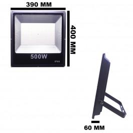 REFLETOR HOLOFOTE LED SMD  500W 6500K(BRANCO FRIO)BIVOLT IP66 ECO