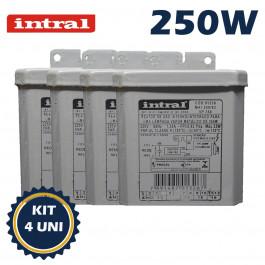 REATOR INTRAL PARA LÂMPADA VAPOR METÁLICO   250W 220V(USO INTERNO) KIT4