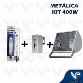 KIT PROJETOR EM ALUMINIO C/LAMPADA TUBULAR E REATOR METALICO PHILIPS 400W E40