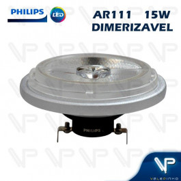 LÂMPADA LED AR111 PHILIPS 15W 12V 40G 2700K(BRANCO QUENTE)G53 DIMERIZÁVEL