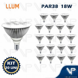 LAMPADA LED PAR38 18W 3000K(BRANCO QUENTE)E27 BIVOLT KIT20