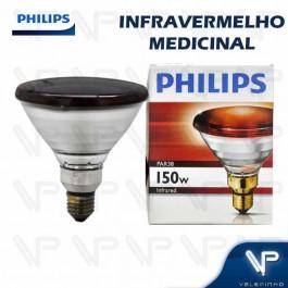 LÂMPADA INFRAVERMELHO PAR38 PHILIPS 150W 127V E27