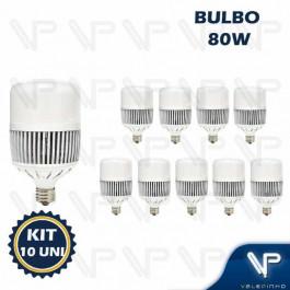 LÂMPADA LED BULBO    80W 6500K(BRANCO FRIO)E27/E40 BIVOLT ALTA POTENCIA KIT10