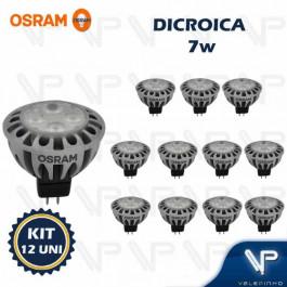 LÂMPADA LED DICRÓICA OSRAM MR16 7W 12V 36G 3000K(BRANCO QUENTE)GU5.3 PARATHOM KIT12