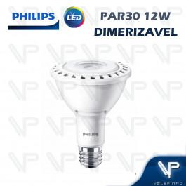 LÂMPADA LED PAR30 PHILIPS   12W 127V 2700K(BRANCO QUENTE)E27 DIMERIZÁVEL