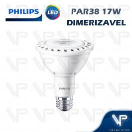 LÂMPADA LED PAR38 PHILIPS   17W 127V 2700K(BRANCO QUENTE)E27 DIMERIZÁVEL
