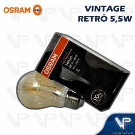 LÂMPADA LED VINTAGE OSRAM 5,5W 2500K(BRANCO QUENTE)E27 BIVOLT BULBO(A60)