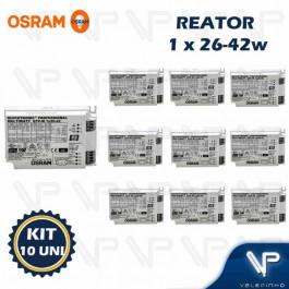 REATOR ELETRÔNICO OSRAM P/LÂMPADA COMPACTA 1x26W 36W 42Wx220V QTP-M KIT10