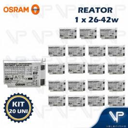 REATOR ELETRÔNICO OSRAM P/LÂMPADA COMPACTA 1x26W 36W 42Wx220V QTP-M KIT20