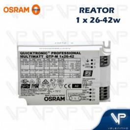 REATOR ELETRÔNICO OSRAM P/LÂMPADA COMPACTA 1x26W 36W 42Wx220V QTP-M