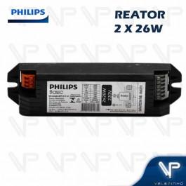REATOR ELETRÔNICO PHILIPS P/LÂMPADA COMPACTA 2x26W 220V PLT/C