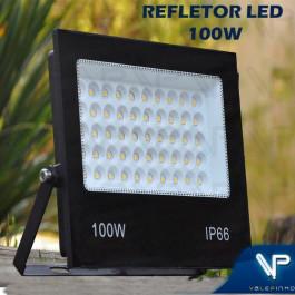 REFLETOR HOLOFOTE LED FLOODLIGHT 100W 3000K(BRANCO QUENTE)BIVOLT IP66