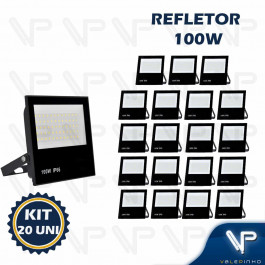 REFLETOR HOLOFOTE LED SMD   100W 6500K(BRANCO FRIO)BIVOLT IP66 KIT20