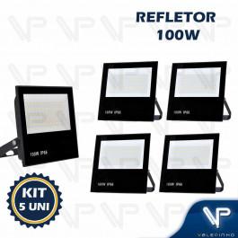 REFLETOR HOLOFOTE LED SMD   100W 6500K(BRANCO FRIO)BIVOLT IP66 KIT5