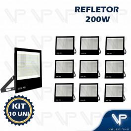 REFLETOR HOLOFOTE LED SMD   200W 6500K(BRANCO FRIO)BIVOLT IP66 KIT10