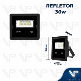 REFLETOR HOLOFOTE LED SMD     30W 6500K(BRANCO FRIO)BIVOLT IP66
