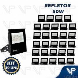 REFLETOR HOLOFOTE LED SMD     50W 6500K(BRANCO FRIO)BIVOLT IP66 KIT30