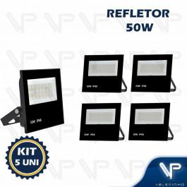 REFLETOR HOLOFOTE LED SMD     50W 6500K(BRANCO FRIO)BIVOLT IP66 KIT5
