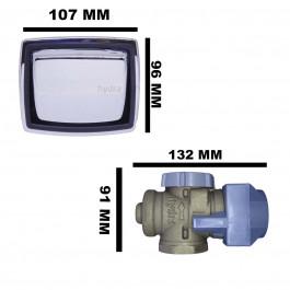 """VÁLVULA DE DESCARGA DECA HYDRA MAX CROMADA 1.1/2"""" (50mm) 2550C112"""
