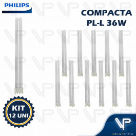LÂMPADA COMPACTA PHILIPS PLL 4PINOS 36W 4000K(BRANCO NEUTRO)2G11 KIT12