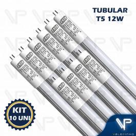 LÂMPADA LED TUBULAR T5 55CM 12W 3200K(BRANCO QUENTE)G5 LEITOSA BIVOLT KIT10