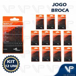 BROCA DE AÇO RÁPIDO HELICOIDAL MAYLE 1.5mm A 6.5mm C/13PÇS KIT12