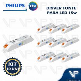 DRIVER FONTE PARA LED PHILIPS CERTA DRIVE 15W 36Vdc 220V KIT10