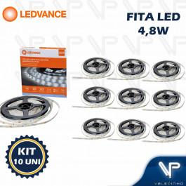 FITA LED LEDVANCE 4,8W 12V 6500K(BRANCO FRIO) 5METROS IP20 ECOFLEX KIT10