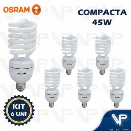 LÂMPADA COMPACTA ESPIRAL HO OSRAM  45W 220V 6500K(BRANCO FRIO)E27 DULUXSTAR TWIST KIT6