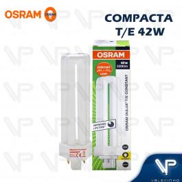 LÂMPADA COMPACTA OSRAM DULUX T/E 4PINOS 42W 2700K(BRANCO QUENTE)GX24q-4