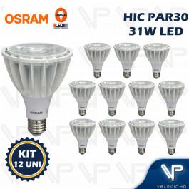 LÂMPADA LED HCI-PAR30 OSRAM 31W 220V 15G 3000K(BRANCO QUENTE)E27 KIT12