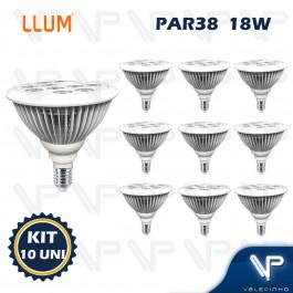 LAMPADA LED PAR38 18W 3000K(BRANCO QUENTE)E27 BIVOLT KIT10