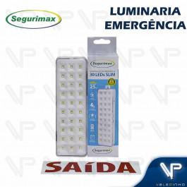 LUMINÁRIA DE EMERGÊNCIA 30 LEDS 6500K(BRANCO FRIO) BIVOLT