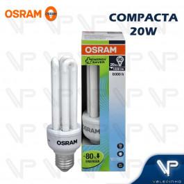 LÂMPADA COMPACTA 3U OSRAM 20W 220V 6500K(BRANCO FRIO)E27 DULUXSTAR