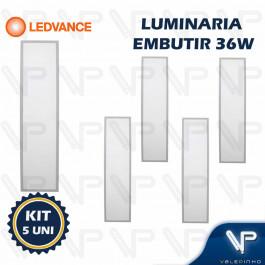 PAINEL PLAFON LED LEDVANCE 36W EMBUTIR 120X30CM 6500K (BRANCO FRIO) BIVOLT  KIT5