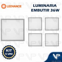 PAINEL PLAFON LED LEDVANCE 36W EMBUTIR 62x62CM 6500K (BRANCO FRIO) BIVOLT KIT5