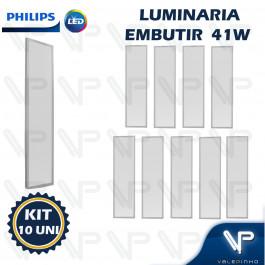 PAINEL PLAFON LED PHILIPS 41W EMBUTIR 120X30CM 4000K(BRANCO NEUTRO) BIVOLT KIT10