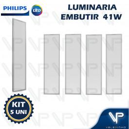 PAINEL PLAFON LED PHILIPS 41W EMBUTIR 120X30CM 4000K(BRANCO NEUTRO) BIVOLT KIT5