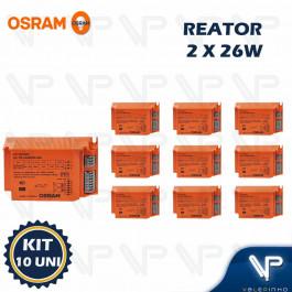 REATOR ELETRÔNICO OSRAM P/LÂMPADA COMPACTA 2x26Wx220V EZ-T/E KIT10