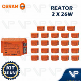 REATOR ELETRÔNICO OSRAM P/LÂMPADA COMPACTA 2x26Wx220V EZ-T/E KIT25