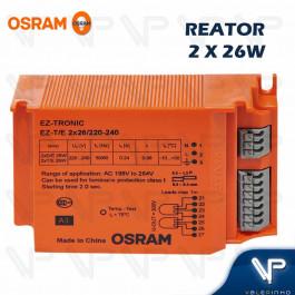 REATOR ELETRÔNICO OSRAM P/LÂMPADA COMPACTA 2x26Wx220V EZ-T/E