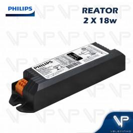 REATOR ELETRÔNICO PHILIPS P/LÂMPADA COMPACTA 2x18W 220V PLT/C