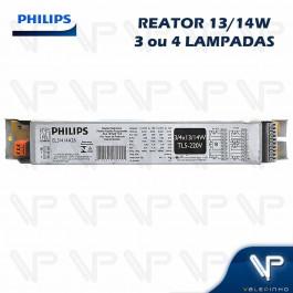 REATOR ELETRÔNICO PHILIPS P/LÂMPADA FLUORESCENTE 3/4x14W 220V TL5