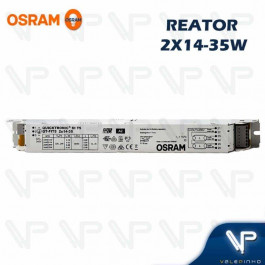 REATOR ELETRÔNICO OSRAM P/LÂMPADA FLUORESCENTE 2x14W 21W 28W 35Wx220V QT-FIT5