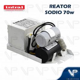 REATOR INTRAL PARA LÂMPADA VAPOR DE SÓDIO 70W 220V(USO INTERNO) 02537 C/CHASSI RESINADO